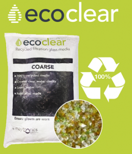 Eco clear filter medium for swimming pools